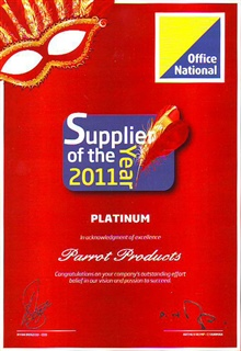 Supplier of the year - 2011