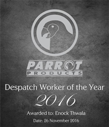 Despatch Worker of the Year - 2016