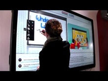 Parrot Interactive showcasing multi-touch on the Interactive whiteboard