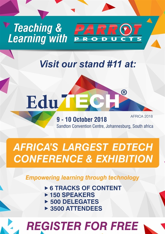 Visit our stand #11 at Edutech Africa 2018