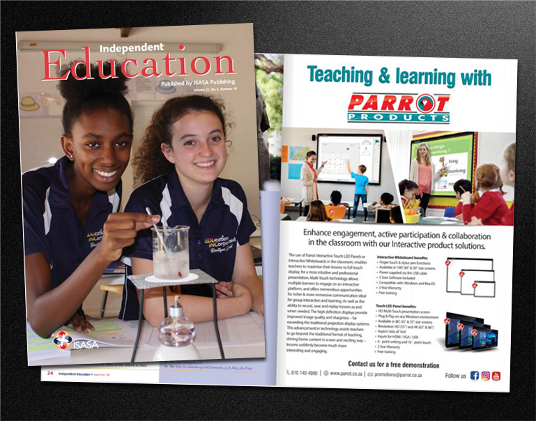 Parrot advertised in Independent Education Summer issue