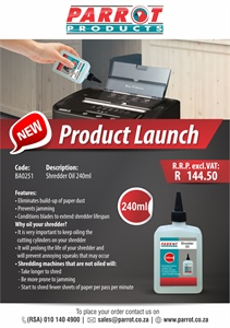 Shredder Oil Product Launch