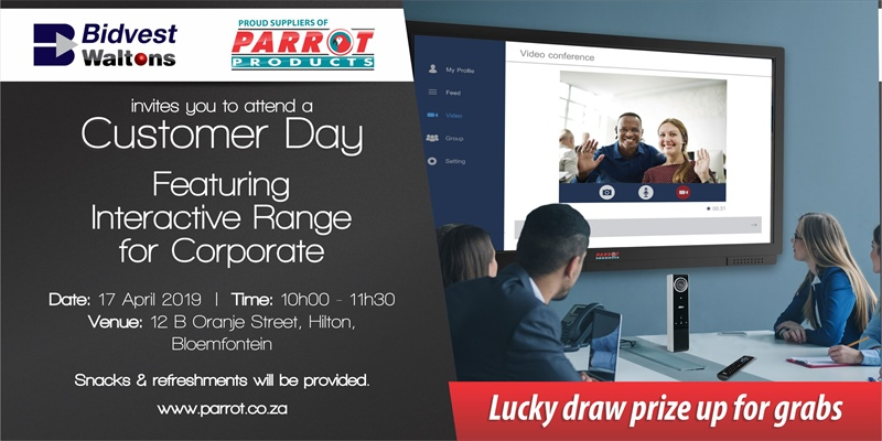 Customer Day Bloemfontein - 17th April 2019