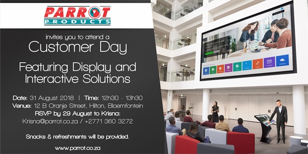 Customer Day Bloemfontein - 31 August 2018