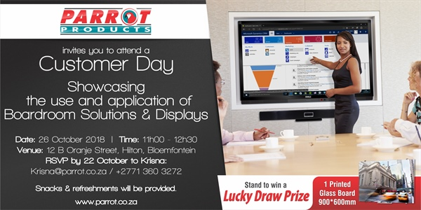 Customer Day Bloemfontein - 26 October 2018