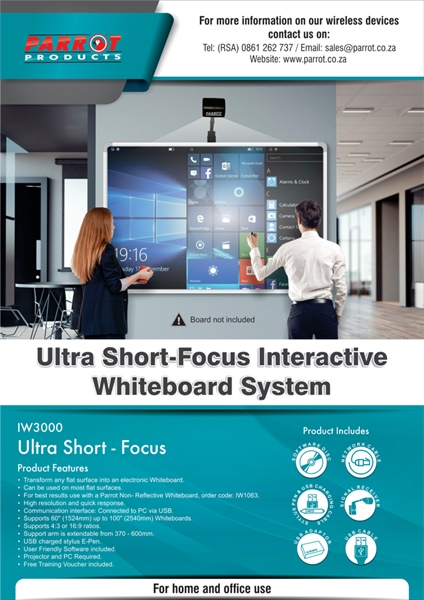 Parrot Products - IW3000 Ultra Short-Focus