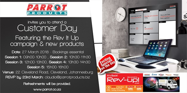 Customer Day Johannesburg - 27 March 218