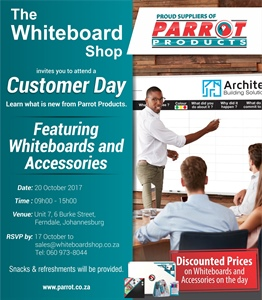 Customer Day - The Whiteboard Shop 20 October 2017