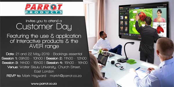 Customer Day East London - 21st & 22nd May 2019