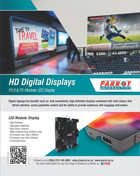Parrot's Digital LED Modular Displays