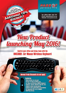 IWC3001 Air Mouse Wireless Keyboard Product Launch