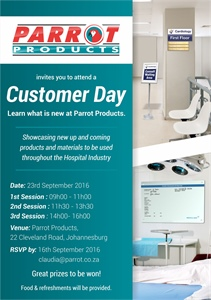 Parrot Products is hosting Customer Days - Johannesburg