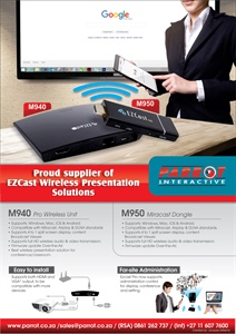 Parrot Interactive EZCast Wireless Presentation Solutions