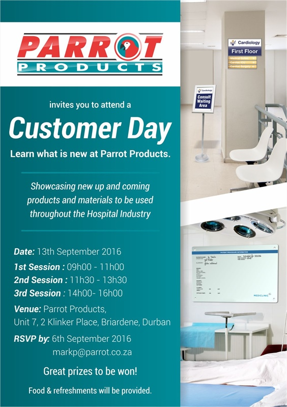 Parrot Products is hosting Customer Days - Durban