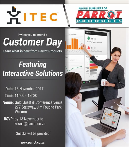 Customer Day - ITEC Welkom 16 November 2017
