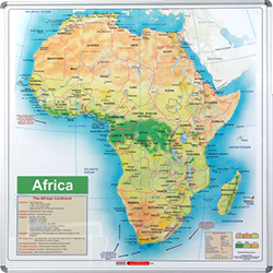 Whiteboard Africa Map