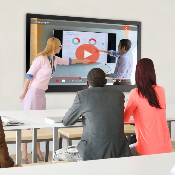 Teachers using LED Interactive LED Touch Panel