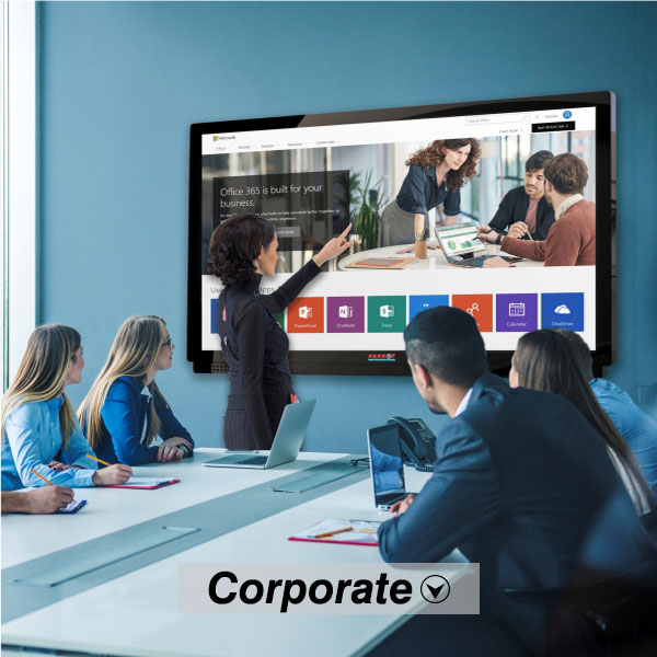 Corporate Meeting with Touch LED Panel