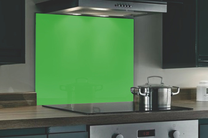 Green Hob Splashback